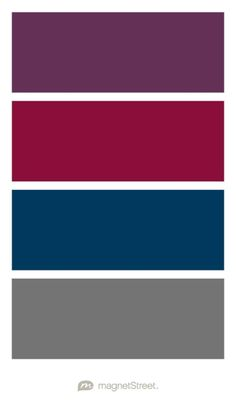 Eggplant, Burgundy, Navy, and Charcoal Wedding Color Palette - custom color palette created at MagnetStreet.com