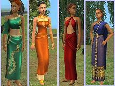 Mod The Sims - Conversions 4 Ancient Formals for Teen Girls