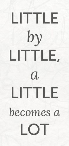 Little by little, a little becomes a LOT! Sign up for the Skinny Ms. Newsletter\u2026 #weightloss