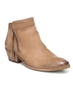 bb07363610fb1f Sam Edelman Packer Leather Block Heel Booties