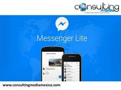 """Facebook Lite. SPEAKER MIGUEL BAIGTS. Facebook lanzó al mercado su versión básica de Messenger. Esta nueva versión llamada """"Messenger Lite"""", también está disponible para dispositivos con sistema Android en Venezuela, Kenia, Túnez, Malasia, y Sri Lanka. De lo que se trata esta app, es que consume una menor cantidad de internet y tiene menos peso así, es más fácil de utilizar para los usuarios que no cuentan con suficiente memoria en su teléfono. www.consultingmediamexico.com  #miguelbaigts"""