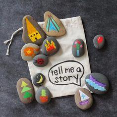 Contar historias con piedras pintadas