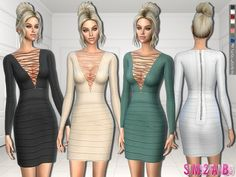 The Sims Resource: 301 - Designer Dress by sims2fanbg • Sims 4 Downloads