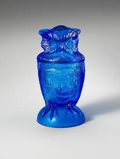 1880-1890 American (Pennsylvania) Covered owl jar at the Metropolitan Museum of Art, New York