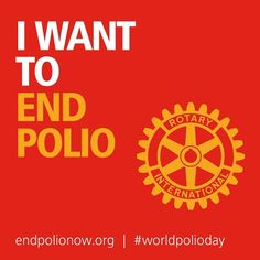 World Polio Day http://www.endpolio.org/ Join this initiative to end polio now. Take a look at global updates on the fight against polio. Tell Your Leader to Fund this Fight http://www.endpolio.org/advocacy Visit also: WHO Poliomyelitis http://www.who.int/immunization/diseases/poliomyelitis/en/