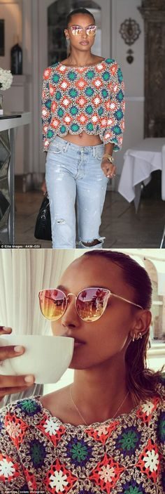 Crochetemoda Blog: Jasmine Tookes - Crochet Top.Идеи.