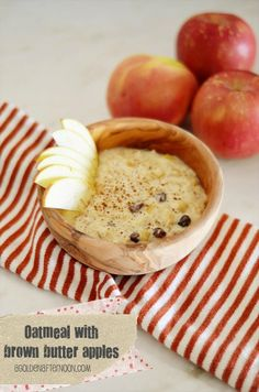 Oatmeal w/ Brown Butter Apples
