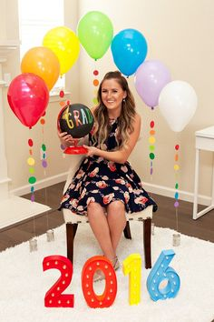 Rainbow Balloon Backdrop - Graduation Party Ideas
