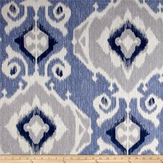 Magnolia Home Fashions Delhi Yacht from @fabricdotcom  Screen printed on cotton duck; this versatile, medium weight fabric is perfect for window accents (draperies, valances, curtains and swags), accent pillows, duvet covers, upholstery and other home decor accents. Create handbags, tote bags, aprons and more. Colors include shades of blue, grey, and beige.