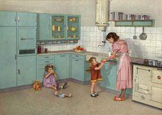 De eerste Bruynzeel keuken ontworpen door Piet Zwart in 1937.
