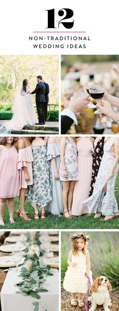 Get inspired by our favorite non-traditional wedding ideas for a modern, thoroughly unstuffy celebration.
