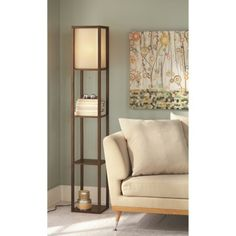 Contemporary Kenroy Curio Oil-Rubbed Bronze Floor Lamp with ...