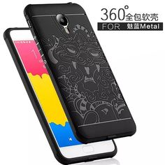 """Meizu M1 Metal 5.5"""" Case Back Cover Anti-knock Armor Silicon Cases For Meizu Meilan Metal Covers Phone Housing Shell Capa Fundas"""