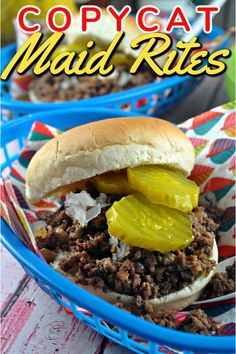 Maid Rite Recipe Copykat Recipes, Meat Recipes, Healthy Recipes, Hamburger Recipes, Hamburger Dishes, Recipies, Pork Dishes, Loose Meat Sandwiches, Wrap Sandwiches