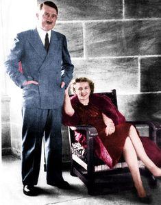 According to Grey Wolf: The Escape Of Adolf Hitler, Eva Braun (right) accompanied the Adolf Hitler when he escaped through a secret tunnel f...