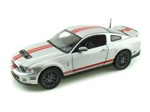 2011 #Ford #Shelby #GT500 1/18 Silver w/ Red #Stripes