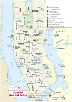 A Rock N Roll Map Of Manhattan Manhattan City And Vacation - Nyc map