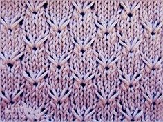 The pattern repeat is only 8 rows, and is super easy to memorize. You can make it bigger (or smaller) by adding stitches in any multiple of 8.