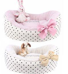 Pet Beds- Puppy Beds Cute & Cozy   Talia Dog Boutique