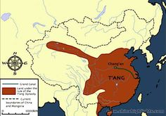 The qin dynasty map ancient china maps the map of the qin tang dynasty map1 this map shows the land of the tang dynasty 618 sciox Gallery