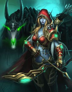 My dark queen for ever and always. Sylvanas Windrunner by ~LeeJJ on deviantART