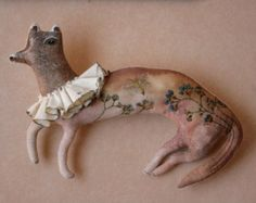 Pantoffel Circus Monkey Fabric Art Doll soft by pantovola