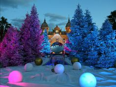 Christmas decorations in front of the Monte Carlo Casino in Monaco on Dec. 12, 2012.  Lionel Cironneau, AP