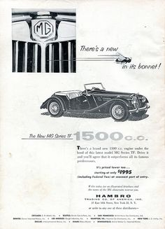 1954 MG Series TF Advertisement Road & Track December 1954 | Flickr - Photo Sharing!