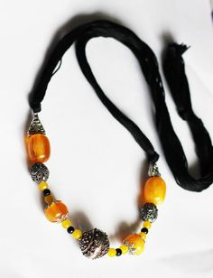 Rubeads Necklace set with Resin and German Silver beads For Women