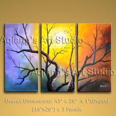 It is nicely done oil painting of Tree in Contemporary style. This painting is painted with great skill, masterful brush strokes by our talented artist. Abstract Painting Techniques, Modern Oil Painting, Modern Art Paintings, Oil Painting Abstract, Landscape Paintings, Abstract Art, 3 Piece Canvas Art, Large Canvas Wall Art, Tree Canvas