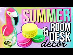 DIY SUMMER Room & Desk Decorations - YouTube