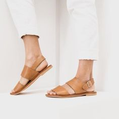 Jun Sandal | Tan Leather | St Agni – Salt Living or online at www.saltliving.com.au #saltliving #stagni #leather #sandals