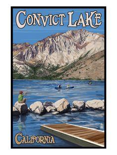 Convict Lake, California Scene, c.2009 Premium Poster at Art.com