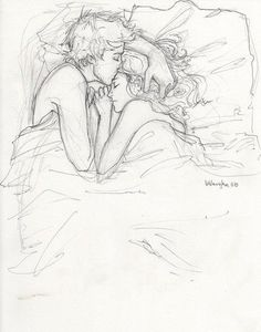 Cute couple drawing