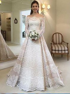 21 Top Wedding Dresses 2018 21 Wedding Dresses 2018 From Top Designers wedding dresses 2018 a line with long sleeves lace royal chemise Full gallery: weddingdressesgui… The post 21 Top Wedding Dresses 2018 appeared first on Beautiful Daily Shares. Wedding Dress Black, Disney Wedding Dresses, Gorgeous Wedding Dress, Princess Wedding Dresses, Designer Wedding Dresses, Bridal Dresses, Wedding Gowns, Wedding Disney, Princess Party