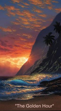 Walfrido - Art and Paintings by Artists Wyland, James Coleman, Rodel Gonzalez, Dan Mackin, Seascape Paintings, Nature Paintings, Amazing Nature, Amazing Art, Amazing Paintings, Wyland Art, Painting Of Girl, Painting Art, Scenery Pictures