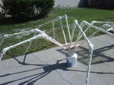 Expanding foam to cover spider legs