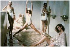 The women to the left leaning ... Deborah Turbeville for Vogue, May 1975