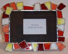 stained glass picture frame | Stained Glass Picture Frame - Bright & Contemporary by Terraza Stained ...