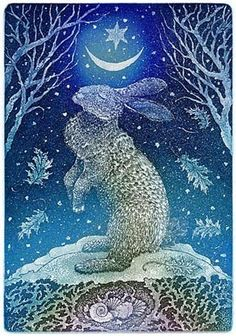 An Illustrator's Inspiration: Doreen Foster: Solstice Hare