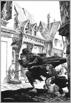 """Bernie Wrightson - Unpublished """"Pit and The Pendulum"""" Edgar Allan Poe Portfolio Painting (1976). Description from pinterest.com. I searched for this on bing.com/images"""