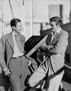 Cecil Beaton & Gary Cooper  1930's-- roaring 20's 30's