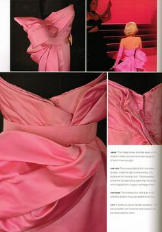 "Detail of Travilla Costume Design for Marilyn Monroe, ""Gentlemen Prefer Blondes"""