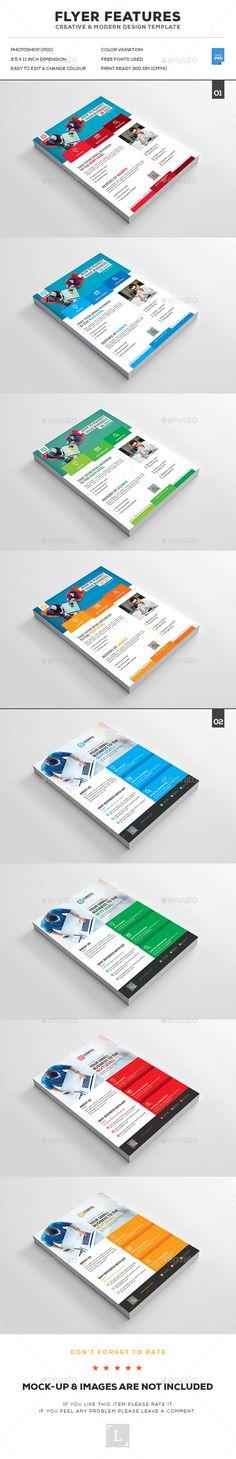 Corporate Flyer Design Bundle - Corporate Flyer Template PSD. Download here: http://graphicriver.net/item/corporate-flyer-bundle/16730930?ref=yinkira