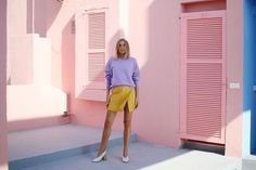 PINK PURPLE YELLOW Hanna Stefansson, Purple Yellow, Dresses For Work, Inspiration, Outfits, Art, Style, Fashion, Biblical Inspiration