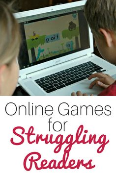 Super Fun Online Games for Struggling Readers Stressed out with finding ways to increase fluency in your homeschool? These Online Games for Struggling Readers are perfect for practicing phonics & more. Reading Resources, Reading Strategies, Reading Skills, Reading Fluency Games, Reading Comprehension, Reading Help, Teaching Reading, Teaching Activities, Reading Tips