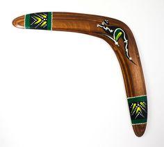 "Boomerang  ""Kangaroo"", Australia, Aboriginal, Indigo"