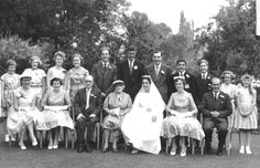 1959: Young Roger (2nd from rt, back row) at his cousin Moira's wedding