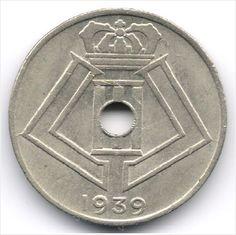 Belgium 10 Centimes 1939 French - Dutch Legend Veiling in de België,Europa (niet of voor €),Munten,Munten & Banknota's Categorie op eBid België