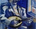 "artist-chagall: "" Portrait of Brother David with Mandolin by Marc Chagall Size: cm Medium: gouache on cardboard"" Marc Chagall, Chagall Paintings, Les Fables, Francis Picabia, Amedeo Modigliani, Mandolin, Illustrations, French Artists, Oeuvre D'art"